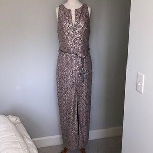 Kay Unger Rose Gold Sequin Dress